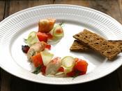 Salade fraîche légère king crabe coeur saumon fenouil pomme verte