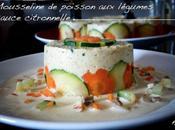 Mousseline poisson petits légumes, sauce citronnelle