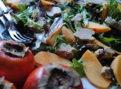 Salade gasconne Noël kakis
