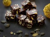 petit carré fudge chocolat noir pour changer truffes réveillon ....