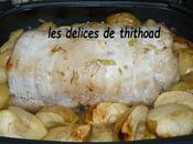 rôti porc cidre pommes