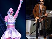 Katy Perry Lenny Kravitz pour mi-temps SuperBowl
