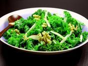Salade chou Kale, noix Grenoble pomme Gala