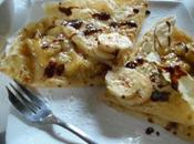 Crêpes fourrées mascarpone~marmelade bananes, sauce chocolat