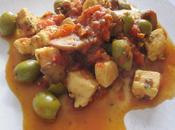 Filets poulet olives champignons