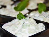 Verrines comcombre yahourt grec menthe&citron
