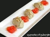 Quenelles d'aubergines ricotta pignons