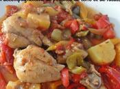 Cocotte pilons poulet, tomate, PdT, ratatouille