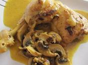 Cuisses poulet crème/champignons