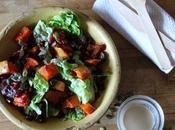 Salade courge épicée grenade, sauce sésame