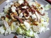 """Salade """"Caesar"""" César façon, vinaigrette légère yaourt"""