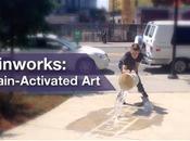 street artist pluie
