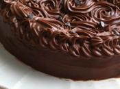 Gâteau chocolat toping cream cheese