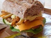 Sandwich poulet frites sauce moutarde (Vegan)