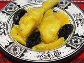 Pilons poulet pruneaux, orange huile d'argan