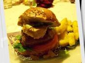 Burger cerf foie gras compression frites