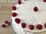 Layer cake vanille framboises