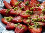 Carpaccio fraises pate pistaches maison