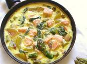 Recette frittata asperges saumon