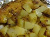 Cuisse poulet épices pomme-de-terre papillote