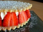 Sablé vanille, crème verveine, fraises