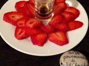 Fraises l'huile d'olive basilic crème balsamique