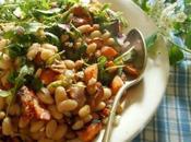 Salade haricots blancs, patate douce feta