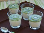 Crème lait coco coulis kiwi
