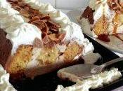 Victoria cake banana crème petit suisse miel enrobage chocolat chantilly