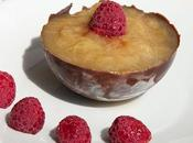 Compote rhubarbe coque chocolat bicolore
