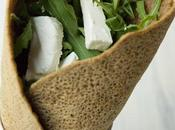Wrap Sarrasin, Roquette, Chèvre Caviar d'Aubergine