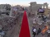 [VIDEO] Tapis rouge beau milieu ruines Gaza, pied Festival Cannes