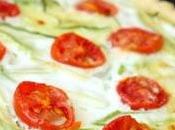Tarte chèvre frais courgette tomate cerise