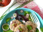 Bouchées végétales oignons rouges