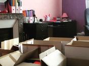 Mettre travail dans cartons