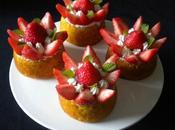 Petits gâteaux fraises chantilly
