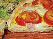 Tarte thon, tomate, mozzarella moutarde l'ancienne