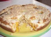 Gâteau streusel pêches
