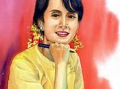 """ANNIVERSAIRE, AUNG KYI! Dame Rangoun"""" fête dans liesse toutes Birmanes Birmans."""