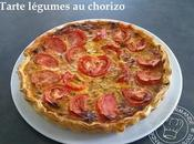 Tarte légumes chorizo