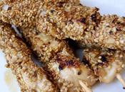 Brochettes poulet apéritives sucrées-salées