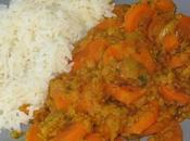 Lentilles corail carottes curry