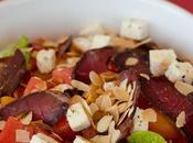Salade pastèque boeuf séché huile Provence