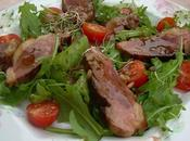 Salade roquette magrets canard