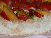 Pavlova fruits d'été matcha