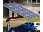 Salon véhicule électrique station recharge solaire innovante