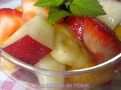 Salade fruits d'été sirop parfumé