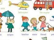 chemin l'école grand livre mots illustrés anglais