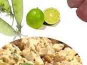 Recette salade poulet citronnée épicée gingembre (basses calories, sans gluten)