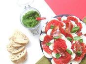 L'apéro l'italienne: Tomates-Mozzarella Pesto verde